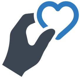 icon of hand giving heart