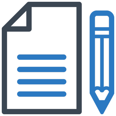 document and pencil icon