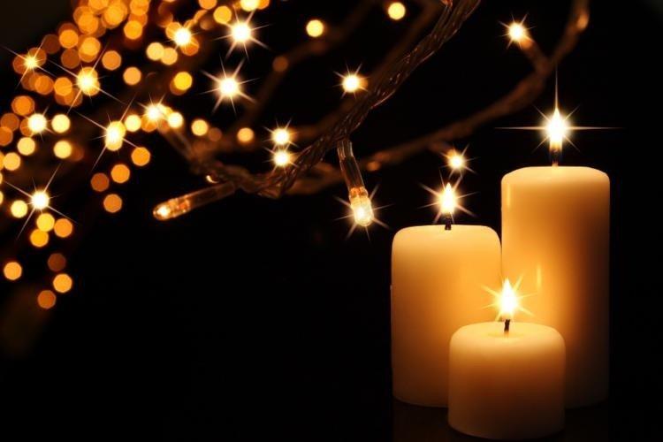 xmas candles & lights